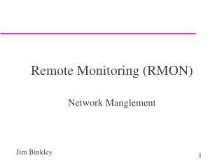 Remote Monitoring (RMON)