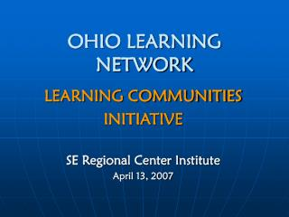OHIO LEARNING NETWORK