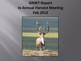 GNWT Report  to Annual Harvest Meeting Feb 2012