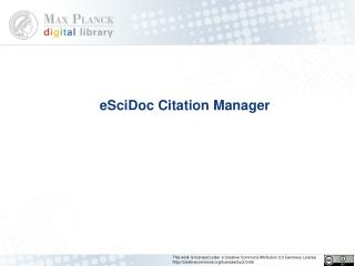 eSciDoc Citation Manager