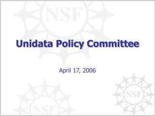 Unidata Policy Committee