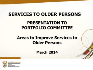 SERVICES TO OLDER PERSONS