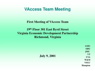 VAccess Team Meeting
