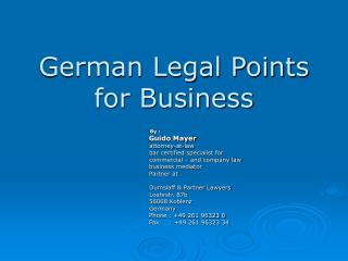 German Legal Points  for Business