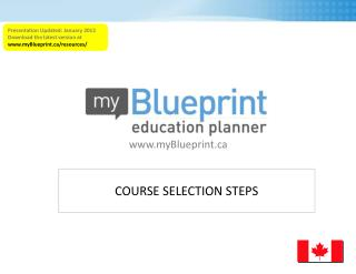 COURSE SELECTION STEPS