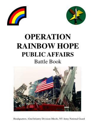OPERATION RAINBOW HOPE PUBLIC AFFAIRS Battle Book