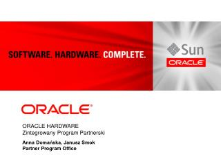 ORACLE HARDWARE Zintegrowany Program Partnerski