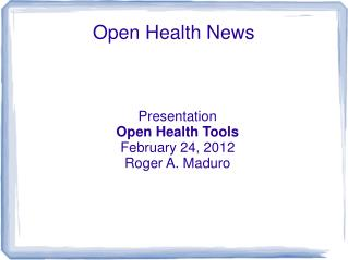Open Health News