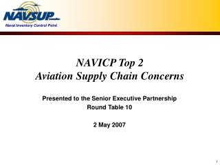 NAVICP Top 2 Aviation Supply Chain Concerns