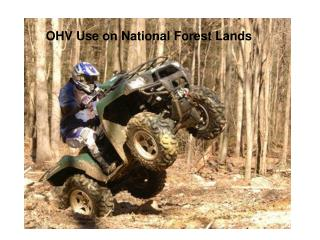 OHV Use on National Forest Lands