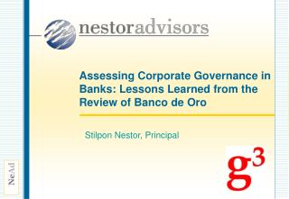 Assessing Corporate Governance in Banks: Lessons Learned from the Review of Banco de Oro