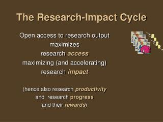 The Research-Impact Cycle