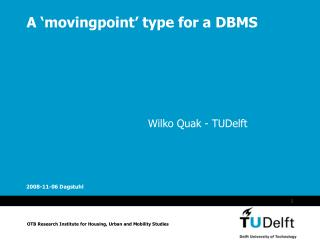 A 'movingpoint' type for a DBMS