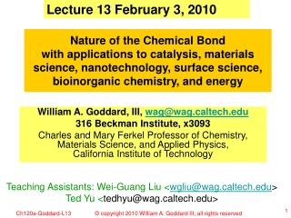 Lecture 13 February 3, 2010