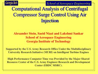 Computational Analysis of Centrifugal Compressor Surge Control Using Air Injection