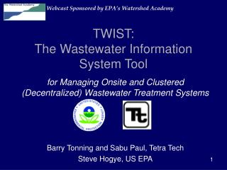 TWIST: The Wastewater Information System Tool