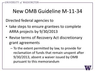 New OMB Guideline M-11-34