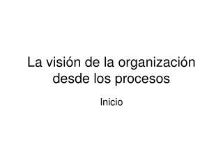 La visión de la organización desde los procesos
