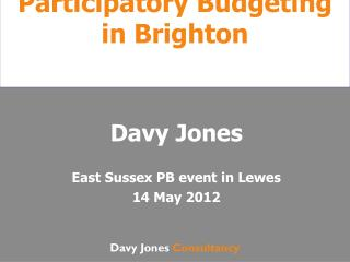 Participatory Budgeting in Brighton