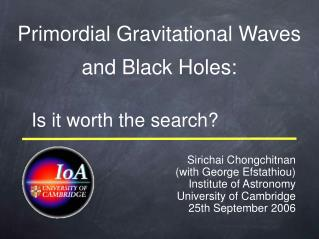 Primordial Gravitational Waves