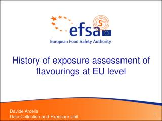 History of exposure assessment of flavourings at EU level