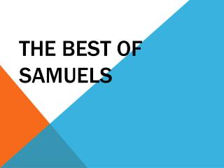 THE BEST OF  SAMUELS