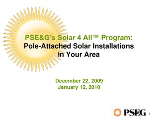 PSE&G's Solar 4 All ™  Program: Pole-Attached Solar Installations in Your Area