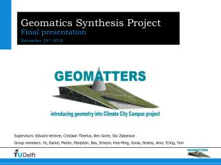 Geomatics  Synthesis Project