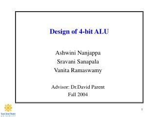 Design of 4-bit ALU