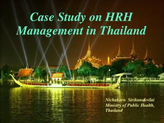 Case Study on HRH Management in Thailand