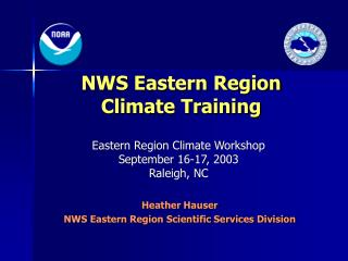 NWS Eastern Region Climate Training