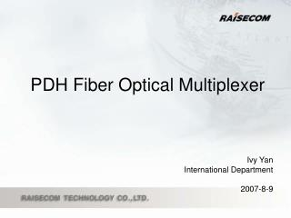 PDH Fiber Optical Multiplexer