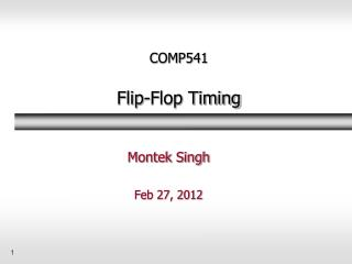 COMP541 Flip-Flop Timing