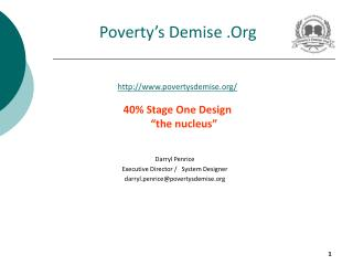 Poverty's Demise .Org