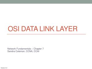 OSI Data Link Layer