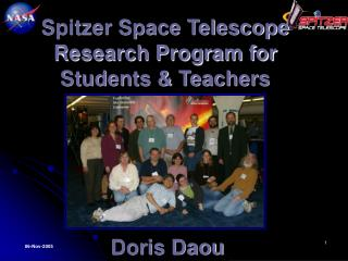 Spitzer Space Telescope Research Program for Students & Teachers