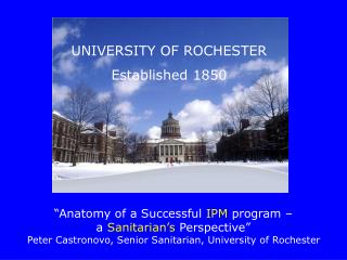 UNIVERSITY OF ROCHESTER Established 1850