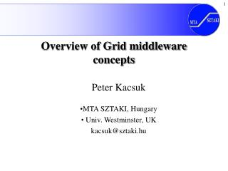 Overview of Grid middleware concepts
