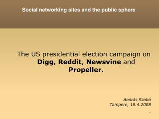 Social networking sites and the public sphere
