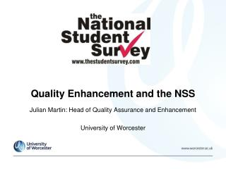 Quality Enhancement and the NSS