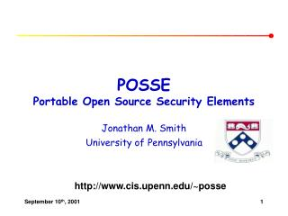 POSSE Portable Open Source Security Elements