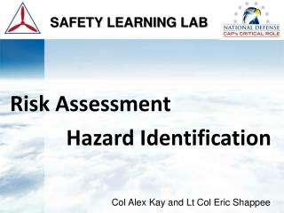 Risk Assessment            Hazard Identification