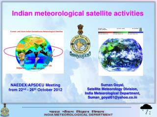 Indian meteorological satellite activities