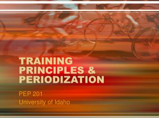 TRAINING PRINCIPLES & PERIODIZATION