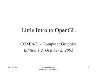 Little Intro to OpenGL