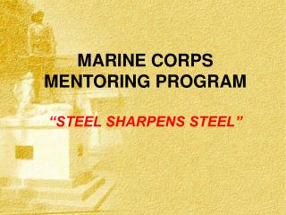 "MARINE CORPS MENTORING PROGRAM ""STEEL SHARPENS STEEL"""