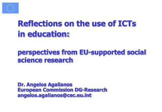 Reflections on the use of ICTs  in education: