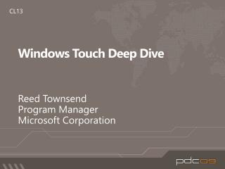 Windows Touch Deep Dive