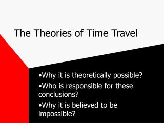 The Theories of Time Travel