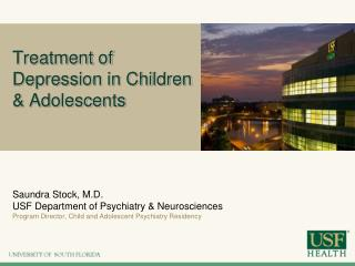 Treatment of Depression in Children & Adolescents